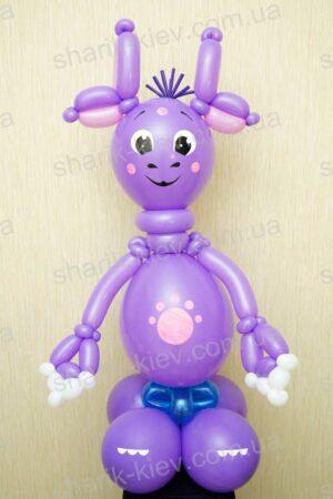 Лунтик (вариант 3) из воздушных шаров