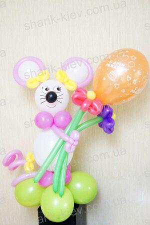 Мышка с шариком из воздушных шаров
