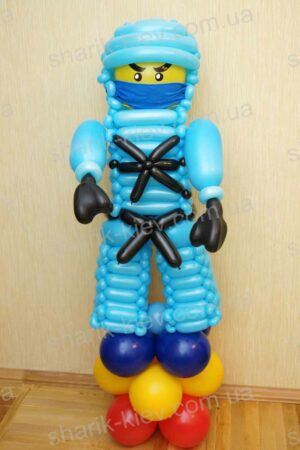 Ниндзяго (Lego) из воздушных шаров