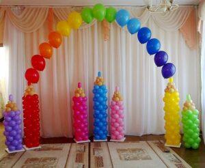 Оформление детского садика Карандашики из воздушных шаров