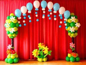 Оформление детского садика Дождик в лесу из воздушных шаров