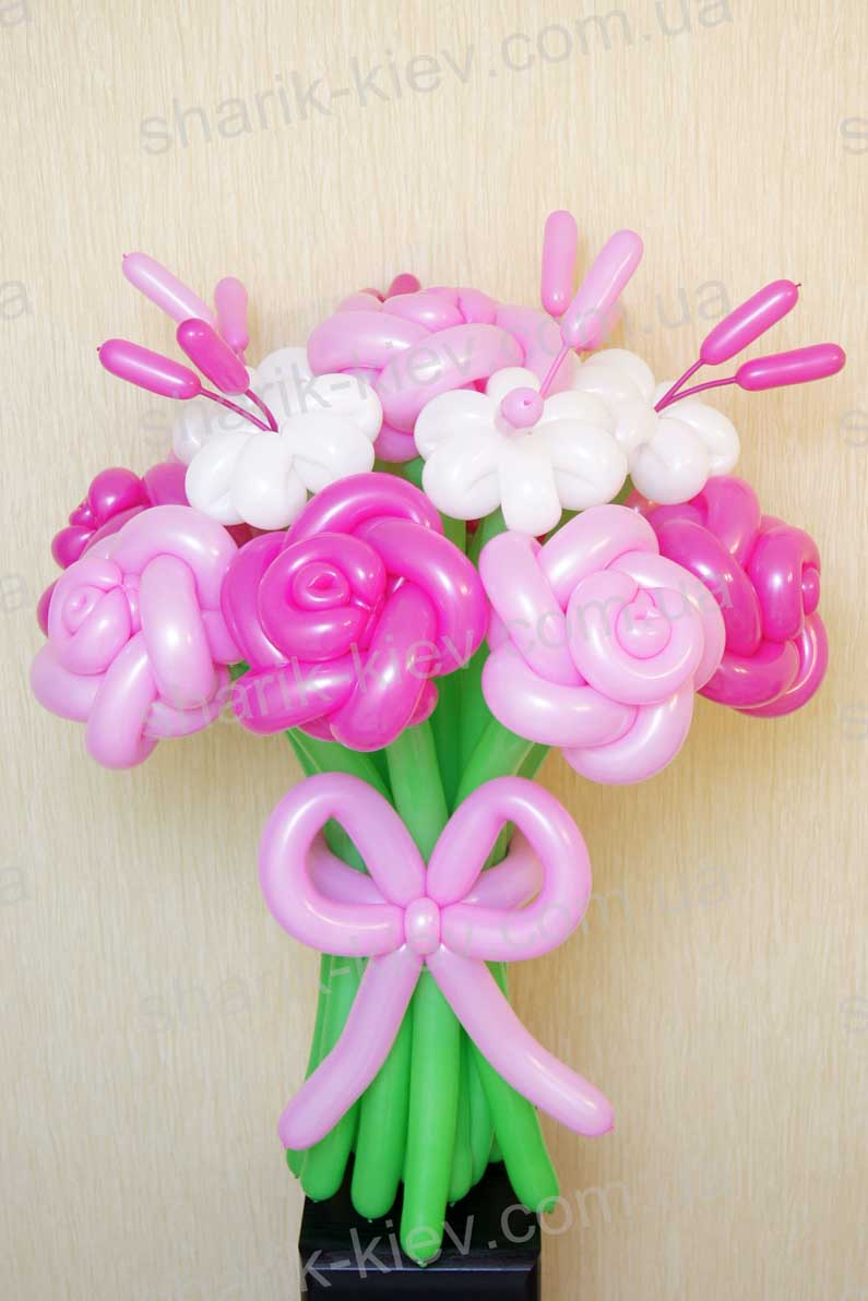 Букет Розовые Сны из воздушных шаров