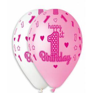 Воздушный шар 1 год девочке