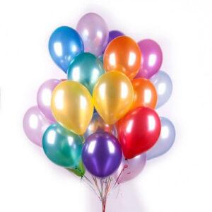 набор разноцветных шаров с гелием