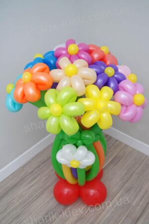 Стойка Радужная из воздушных шаров