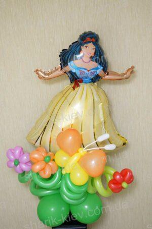 Стойка с фольгированной фигурой из воздушных шаров