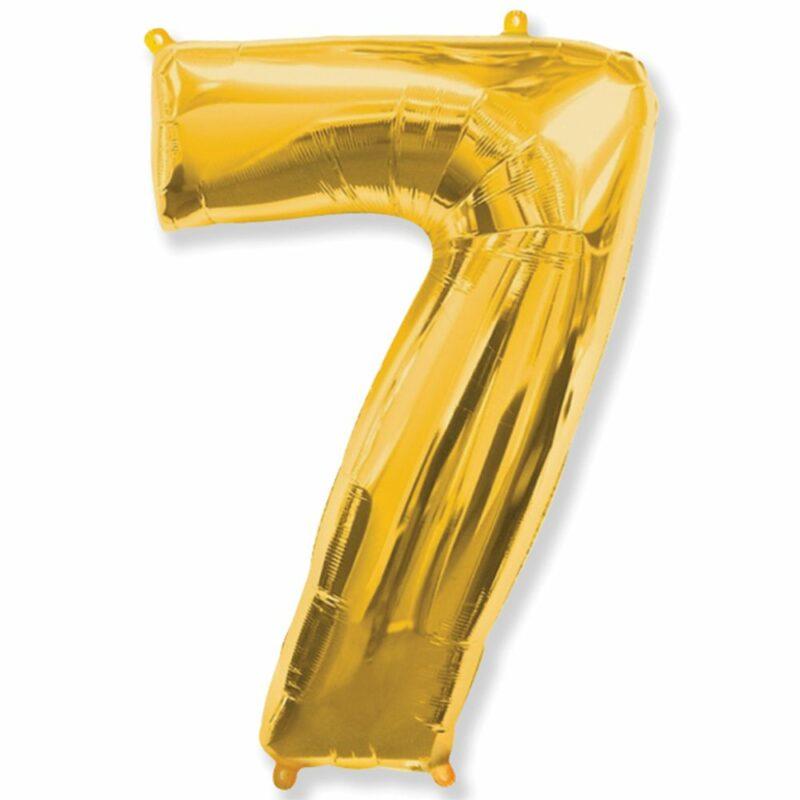 Шар из фольги Цифра 7 Золото