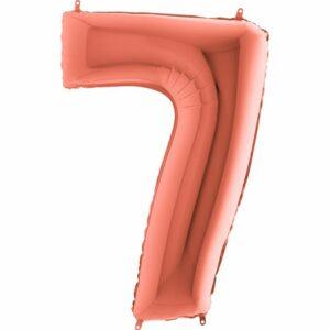 Шар из фольги Цифра 7 Розовое Золото