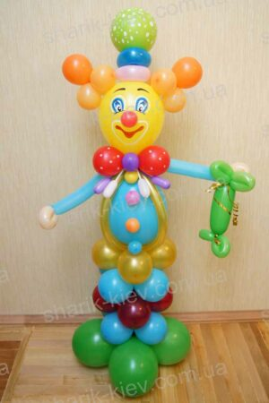 Веселый клоун из воздушных шаров