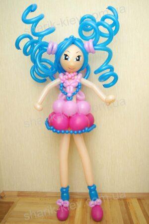 Кукла Винкс (вариант 3) из воздушных шаров