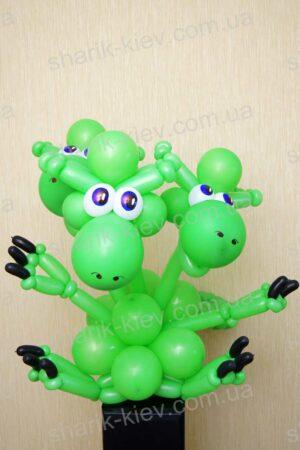 Змей Горыныч из воздушных шаров