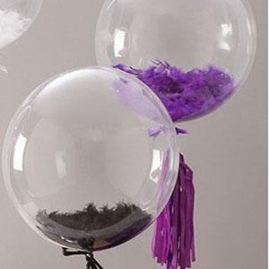 Шары Bubble с перьями