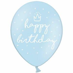 Воздушный Шар Happy Birthday Пастель голубой