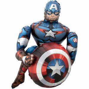 Ходячий шар из фольги Капитан Америка
