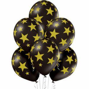 Воздушный Шар Шар Звезды золотистые черный