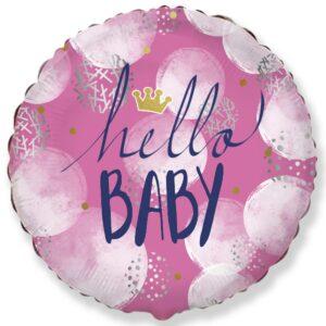 Шар из фольги Hello baby девочка
